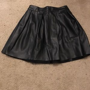 ASOS Black Faux Leather Skirt Size 0